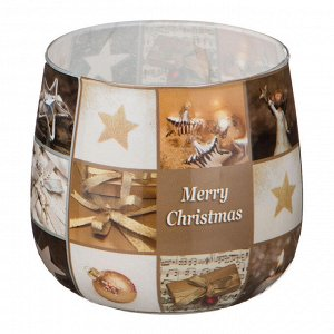 Свеча 'merry christmas' высота=7 см. диаметр=6 см. (кор=12шт.)