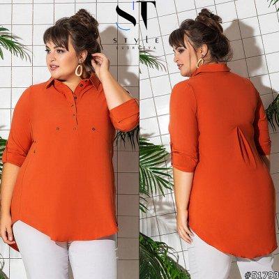 SТ-Style*⭐️Летняя коллекция! Обновлённая! — Супер батал: Рубашки и блузы — Рубашки и блузы