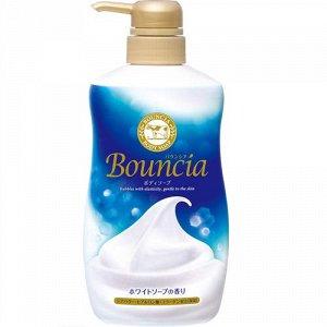 """Сливочное жидкое мыло """"Bouncia"""" для рук и тела с нежным свежим ароматом (дозатор) 500 мл / 12"""
