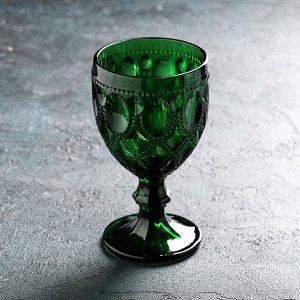 Бокал Magistro «Варьете», 320 мл, цвет зелёный