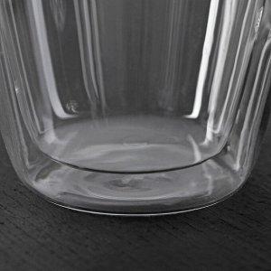 Кружка с двойными стенками «Дуо», 280 мл, 10,5?8?11 см