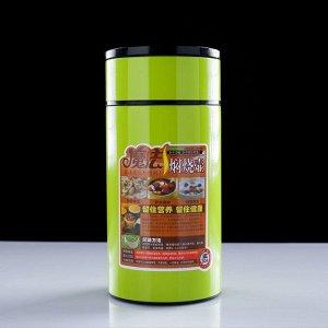 """Термос для еды """"Марса"""", 1000 мл, с ложкой, сохраняет тепло 24 ч, микс, 21.5х10 см"""