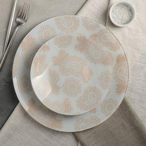 Сервиз столовый «Амина» на 6 персон: 6 тарелок d=20 см, 1 тарелка d=30 см