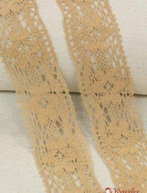 Кружево хлопок-90%, п/э-10%, 67 мм, цв.песочный