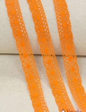 Кружево хлопок-90%, п/э-10%, 25мм, цв.оранжевый