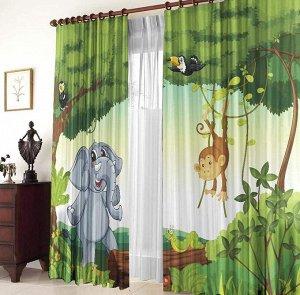 Зоопарк Фотошторы «Зоопарк» яркие и спокойные одновременно – то, что надо для детской комнаты! Приятные насыщенные цвета радуют глаз, создают весёлое настроение и не утомляют. Ребёнку понравится мульт
