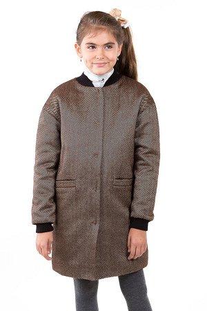Пальто Цвет: Серо-коричневый; Материал: Твид