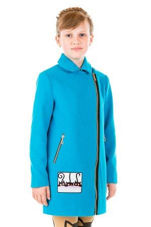 Пальто Материал: Кашемир РАЗМЕР: Рост 128,Рост 146,Рост 140,Рост 134 ЦВЕТ: Голубой
