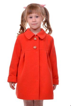 Пальто Материал: Кашемир РАЗМЕР: Рост 98 ЦВЕТ: Оранжевый