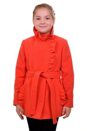 Пальто Цвет: Оранжевый; Материал: Кашемир