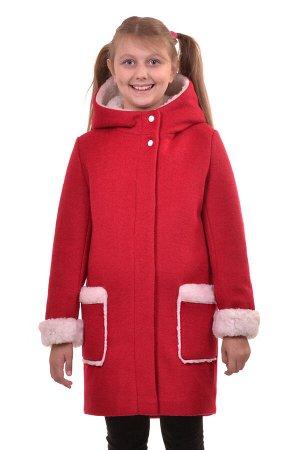 Пальто Материал: Кашемир РАЗМЕР: Рост 146,Рост 140,Рост 134 ЦВЕТ: Красный