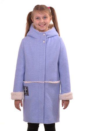 Пальто Материал: Кашемир РАЗМЕР: Рост 158,Рост 152 ЦВЕТ: Голубой