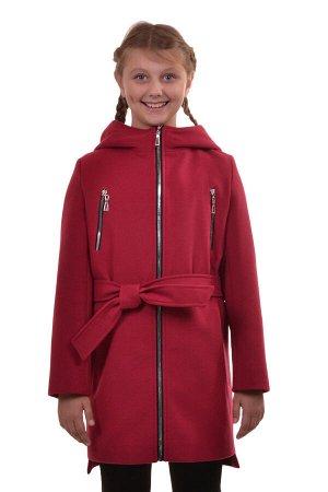 Пальто Материал: Кашемир РАЗМЕР: Рост 152,Рост 146,Рост 140,Рост 134 ЦВЕТ: Красный