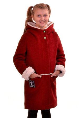 Пальто Материал: Кашемир РАЗМЕР: Рост 164,Рост 158,Рост 152 ЦВЕТ: Красный