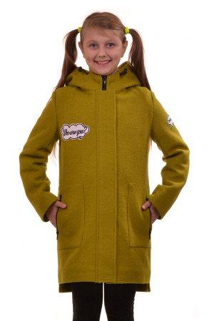 Пальто Цвет: Хаки; Материал: Пальтовая ткань