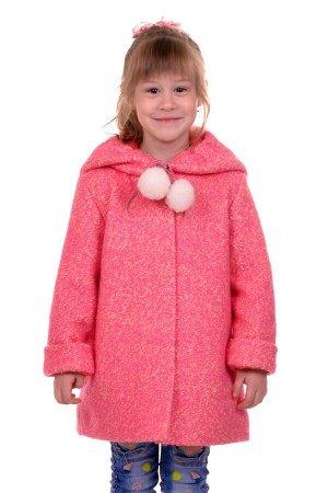 Пальто Цвет: Розовый; Материал: Букле Утепленное пальто для девочки. Ткань верха - Букле (65% шерсть + 35% п/э), подклад - 100%п/э, утеплитель синтепон 60 гр.