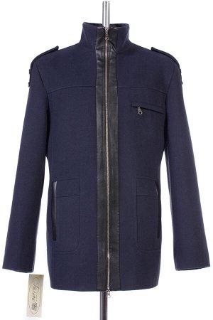 06-0028 Пальто мужское демисезонное (Рост 182) Кашемир темно-синий