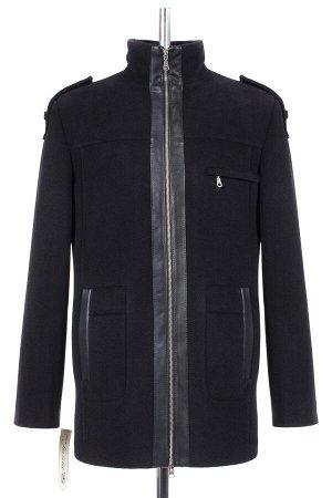 06-0031 Пальто мужское демисезонное (Рост 176) Кашемир черный