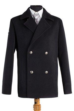 06-0033 Пальто мужское демисезонное (Рост 182) Кашемир черный
