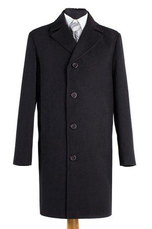 06-0044 Пальто мужское демисезонное (Рост 176) Кашемир черный