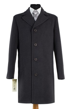 06-0045 Пальто мужское демисезонное (Рост 176) Кашемир серый