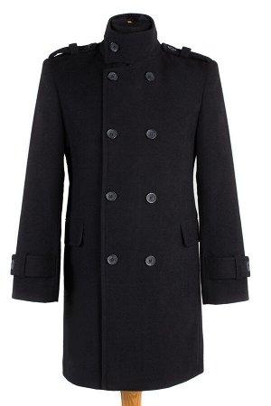 06-0073 Пальто мужское демисезонное (Рост 176) Кашемир черный