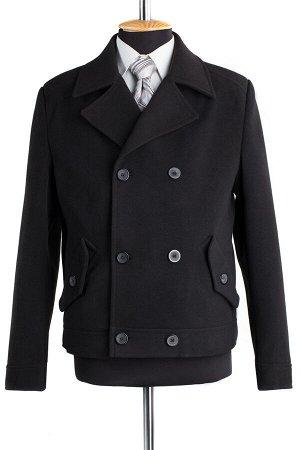 06-0093 Пальто мужское демисезонное (Рост 176) Кашемир черный