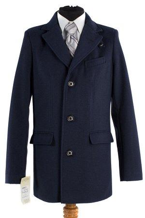 06-0109 Пальто мужское демисезонное (Рост 182) Кашемир темно-синий