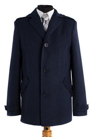 06-0113 Пальто мужское демисезонное (Рост 176) Кашемир темно-синий