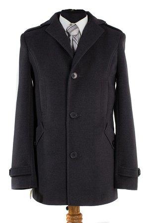 06-0119 Пальто мужское демисезонное (Рост 176) Кашемир серый