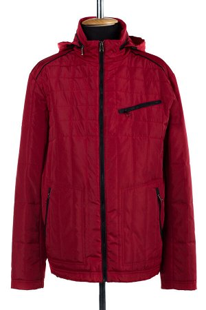 06-0208 Куртка мужская демисезонная (синтепон 100) Плащевка красный
