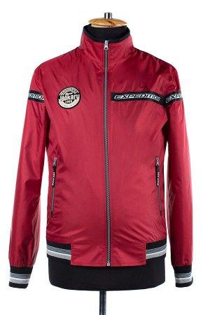 06-0233 Куртка ветровка мужская Плащевка красный