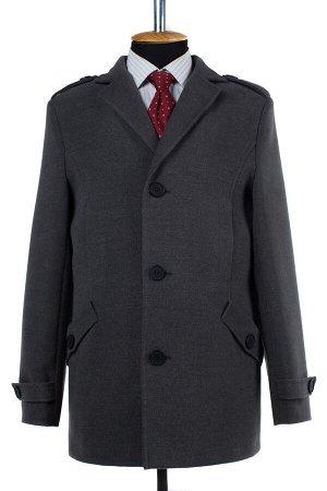06-0302 Пальто мужское демисезонное (Рост 176) Кашемир серый