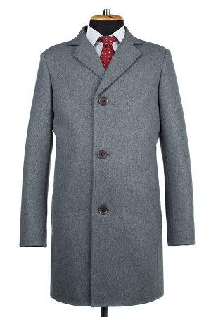 06-0311 Пальто мужские демисезонные (рост 182) сукно светло-серый
