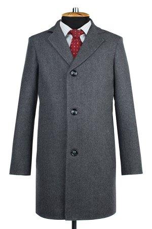 06-0313 Пальто мужские демисезонные (рост 176) Твид серый