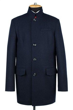 06-0319 Пальто мужские демисезонные (рост 176) сукно темно-синий