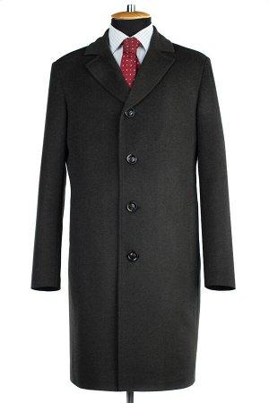 06-0324 Пальто мужские демисезонные (рост 176) Микроворса Темный хаки