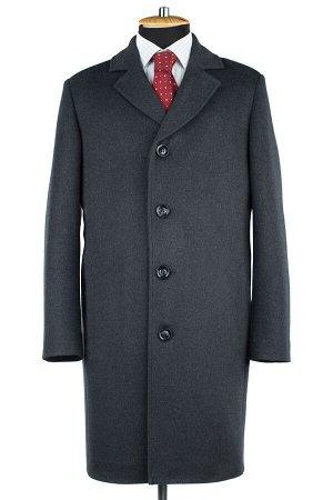 06-0323 Пальто мужские демисезонные (рост 176) Микроворса серый