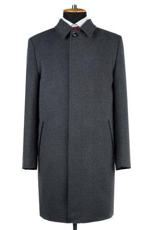06-0327 Пальто мужское демисезонное (рост 182) Микроворса серый