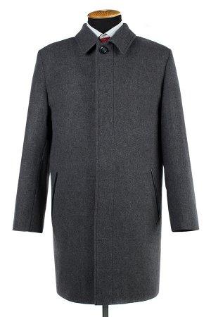 06-0334 Пальто мужское демисезонное (рост 176) Твид серый