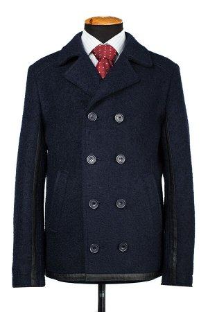 06-0335 Пальто мужское демисезонное Букле темно-синий