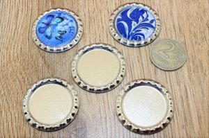 Крышечки для кабошонов (25мм),цв.серебро,упак.50шт(+-5)