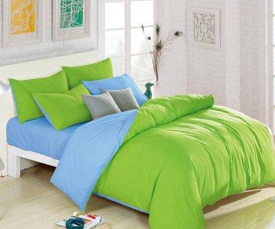 СВК текстиль для спальни. Бюджетно — КПБ Однотонный Двухцветный — Постельное белье