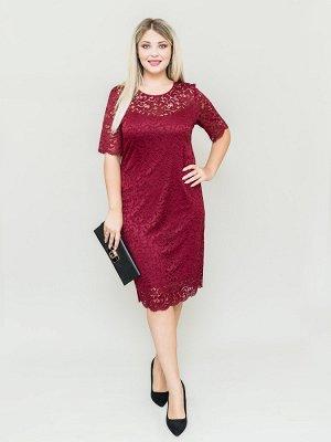 Платье Кружевное бордовый