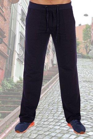 Брюки 163 72% х/б, 20% п/э, 8% лайкра Мужские брюки из футера с лайкрой. Однотонный темный дизайн, прямой покрой, по бокам карманы, резинка в поясе футер с лайкрой 2-х нитка Футер с лайкрой двухнитка