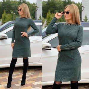 Платье, цвет: зеленый