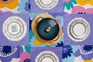 Набор скатерть+салфетки Мари Санна Цветы+василек 150х180