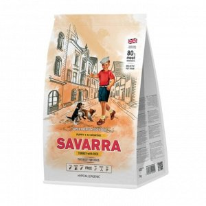 Сухой корм SAVARRA Puppy для щенков, индейка/рис, 1 кг.