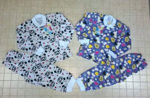Пижама кнопка кулир детская