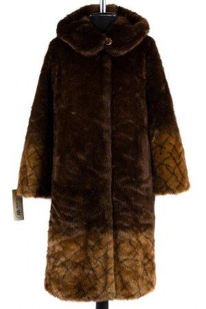 02-1257 Пальто шуба искусственная женская SALE Искусственный мех Янтарь-коричневый